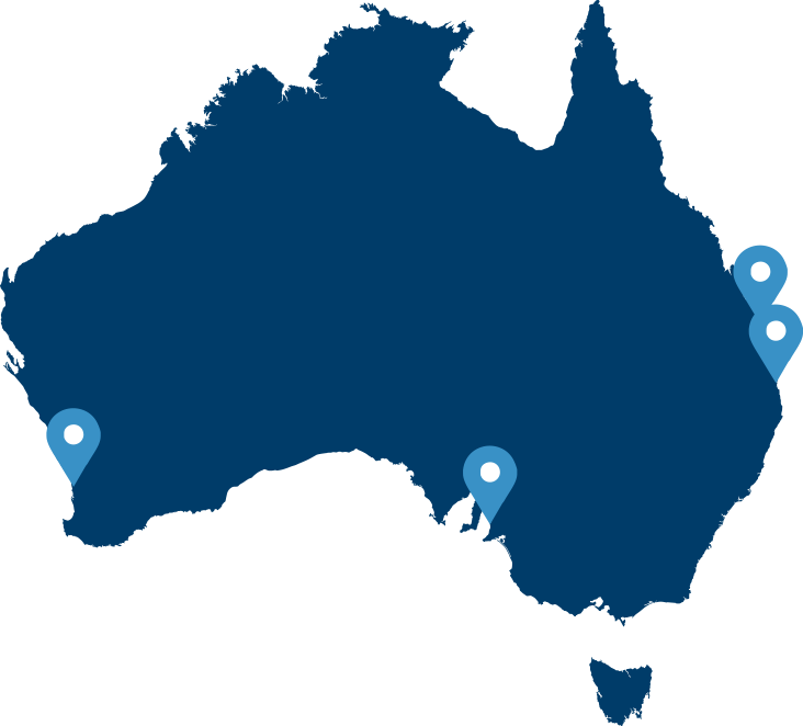 Map of Badge office locations around Australia