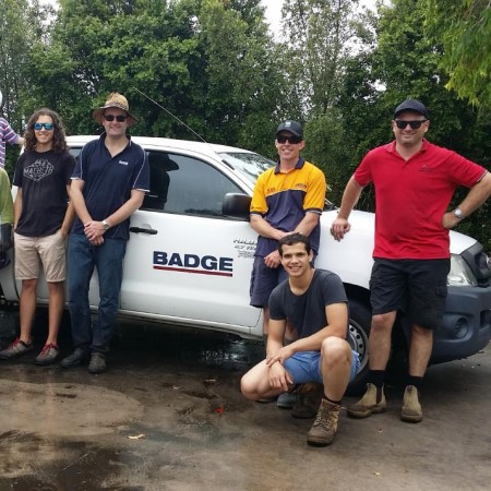 BADGE QLD staff at a working bee