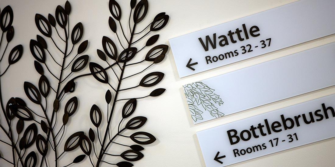 Ward signage