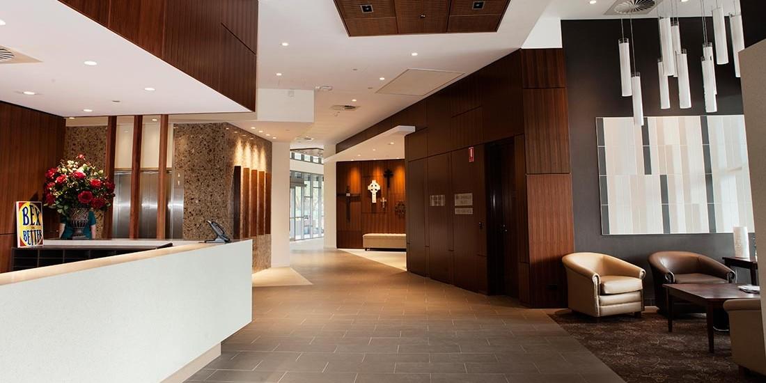 Village reception and hallway