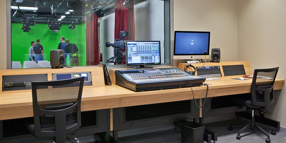 Media and broadcast room