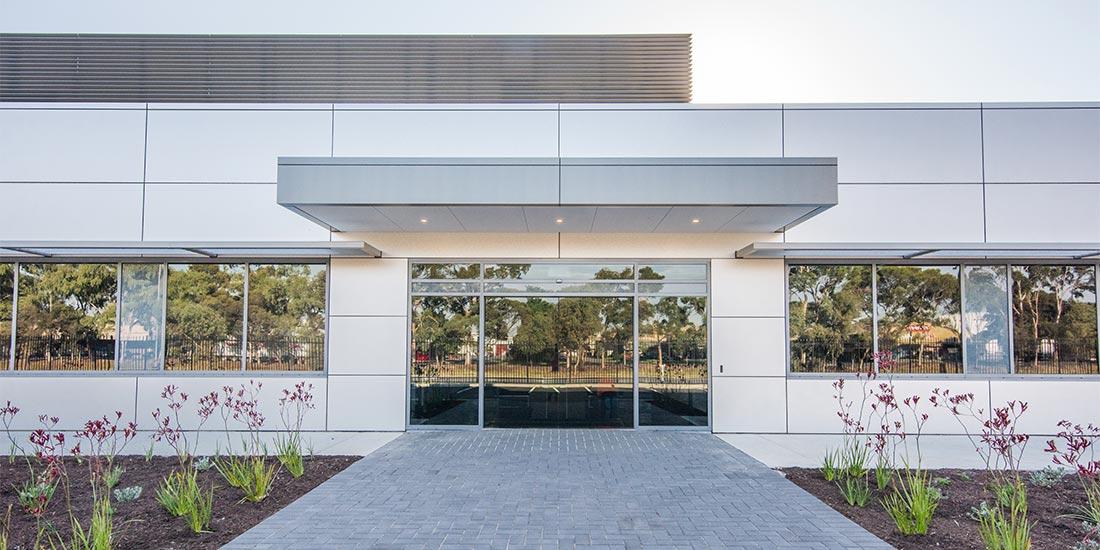 ALDI office entrance