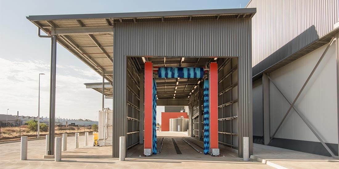 ALDI truck wash station