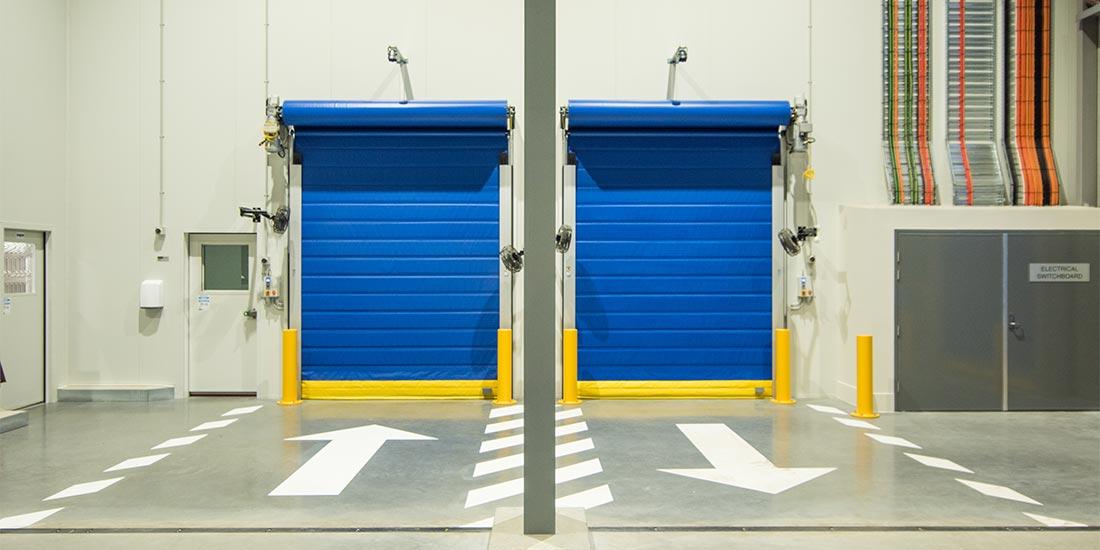 ALDI truck entrance to warehouse