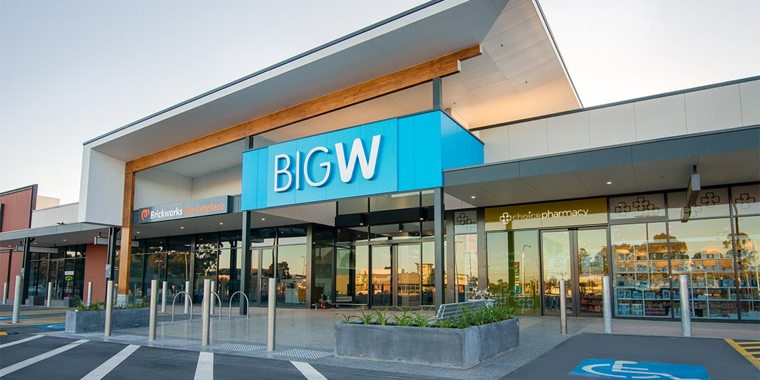Big W entrance way at Brickworks Marketplace