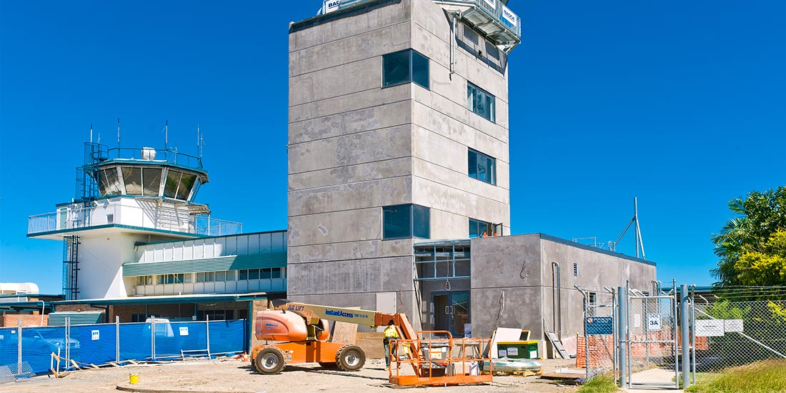Control tower under construction