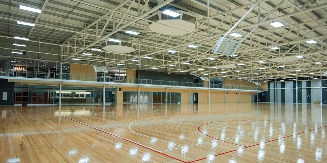 Indoor multi-use sports courts