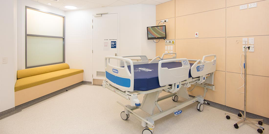 Learning hospital bed