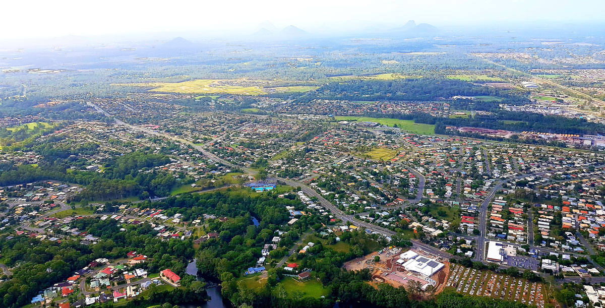 Aerial view of Caboolture, QLD