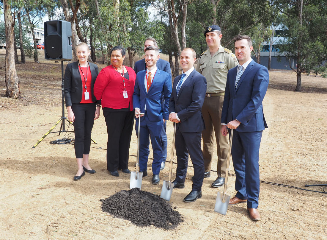 NACP Projects attending the School of Signals sod-turning ceremony at Simpson Barracks, Victoria